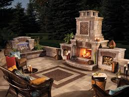 Backyards Ideas Patios by Decor U0026 Tips Patio With Outdoor Fireplace Ideas And Pergola Also