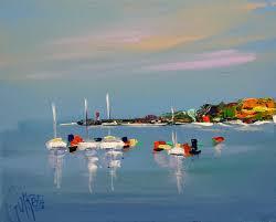 peinture de bord de mer paysage guirette peinture
