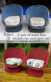 Painting Wicker Patio Furniture - best 25 old wicker chairs ideas on pinterest old wicker
