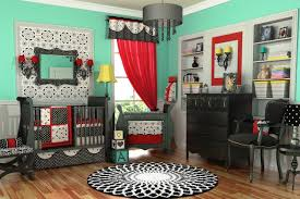 Bedroom Design Lebanon Black White And Red Color Cheme Combined In Green Walls For