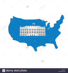 Washington Dc Usa Map by White House On Map Of America Residence Of President Usa Us