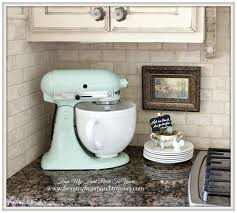 Farmhouse Kit Pistachio Kitchenaid Mixer French Farmhouse Kitchen From My Front
