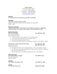 Cosmetologist Resume Objective Psychology Resume Objective Resume For Your Job Application