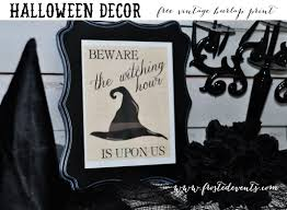Vintage Halloween Printables by Witching Hour Printable Decor Www Frostedevents Com Free Printables