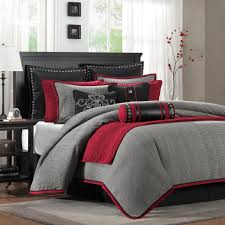Red King Comforter Sets Perfect With Deep Crimson Red Peachskinsheets The Hampton