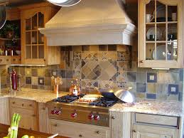 Mosaic Tiles For Kitchen Backsplash Awesome Wooden Kitchen Cabinets With Stainless Steel Appliances