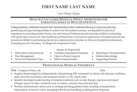 Administrative Secretary Resume Sample by Unit Secretary Resume Berathen Com