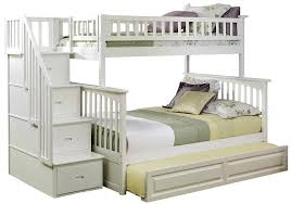 Bunk Beds With Slide And Stairs Amazon Com Columbia Staircase Bunk Bed With Trundle Bed Twin