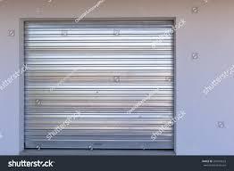 garage door metal new installed sheet metal stock photo 299547623