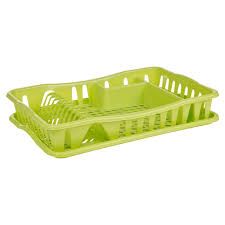 Plastic Dish Drying Rack Washing Up Counter Dish Drainer Rack Drip Tray Stand Holder Sink