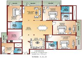 bedroom perfect 4 bedroom house plans 4 room house plan pictures