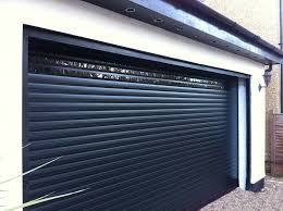 insulated gliderol roller garage doors installed with vision slats