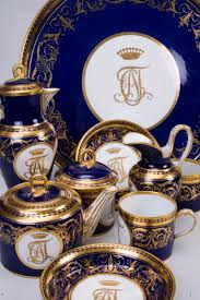 Porcelain by Cobalt And Gold Gilt China From The Imperial Lomonosov Porcelain