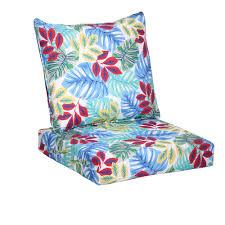 Deep Seat Patio Chair Cushions Hampton Bay Multi Tropical 2 Piece Deep Seating Outdoor Lounge