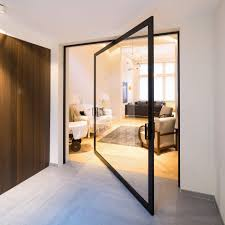 Room Divide by Innovative Pivoting Doors Double As Room Dividers