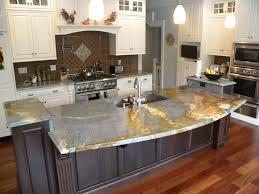 Marble Kitchen Designs Kitchen Cream Marble Kitchen Countertops With Dark Brow Wood