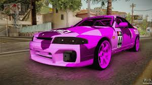 nissan skyline drift car nissan skyline r33 drift falken camo for gta san andreas