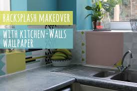 Kitchen Wallpaper Backsplash Backsplash Update With Wallpaper Youtube