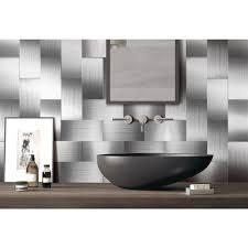 100 pieces peel n stick stainless steel backsplash tiles brushed metal