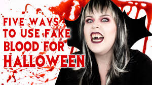 vampire fangs spirit halloween five ways to use fake blood for halloween youtube