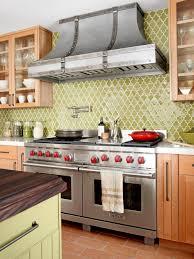 decor cream tile backsplashes for kitchens with walnut cabinet