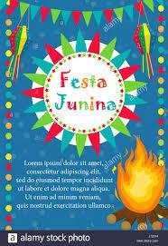 Card Invitation Festa Junina Greeting Card Invitation Poster Brazilian Latin