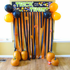 halloween photobooth photo backdrop i just made from dollar