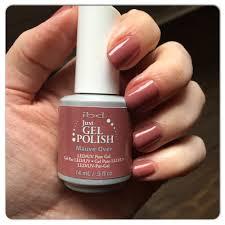 gel nails blog ibd mauve over