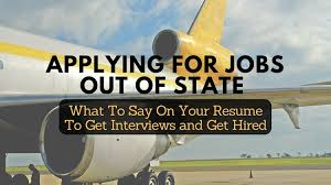Applying for Jobs Out of State  This Resume Tip Can Help CareerSidekick