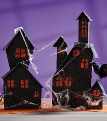 paper haunted house craft halloween crafts joann