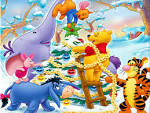 Wallpapers Backgrounds - Friends Decorating (wallpapers Decorating background cartoons disney winnie poo friends christmas tree backgrounds uk 1440x1080)
