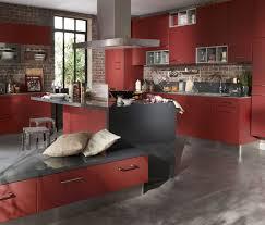 Cuisine Avec Ilot Central Prix by Indogate Com Cuisine Rouge Plan De Travail Gris