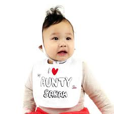 Personalized I Love My Aunt Baby Clothes Personalised U0027i Love My Aunty U0027 Bib By Chewingum London