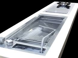 Shallow Prep Sink From Glem With A Cascading Water Jet - Shallow kitchen sinks