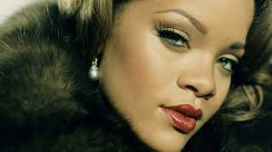wallpaper rihanna fur make up haircut earrings hd picture image
