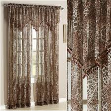 sheer curtains window treatments touch of class ocelot safari window treatment