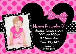 Birthday Invitation Cards Models Minnie Mouse Birthday Invitation Blueklip Com