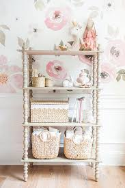 pink and gray nursery wallpaper design ideas