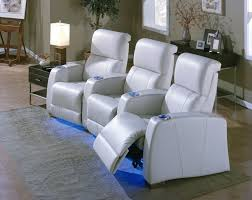 most comfortable white leather living room theater seating with