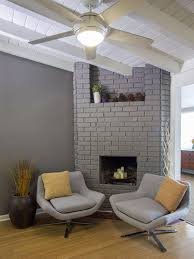 Contemporary Chairs For Living Room by 15 Gorgeous Painted Brick Fireplaces Hgtv U0027s Decorating U0026 Design