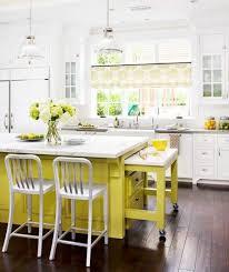 small island kitchen table combined dark wood laminated floor