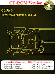 1973 ford car shop manual vol i vi ford motor company david e