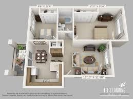 2 Bedroom 1 Bath Floor Plans Floor Plans U2013 Lee U0027s Landing Apartments