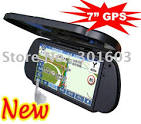 NEW!Wholesale 7 inch touch screen rear mirror bluetooth GPS,HOT ...