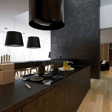 black white kitchen chimney extractor fan interior design ideas