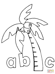 chicka chicka boom boom abc coloring page free printable