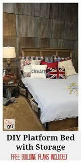 platform bed with storage tutorial platform beds bed plans and