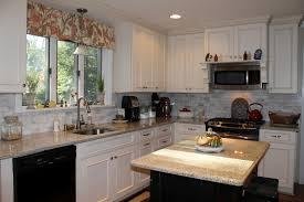Painted Kitchen Backsplash Photos Kitchen Backsplash Ideas With Cream Cabinets Subway Tile
