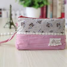 Compare Prices on     Linen Paper  Online Shopping Buy Low Price     Order    piece  Linen floral striped women coin purses ladies change wallets female sanitary napkin paper bags carteira bolsa