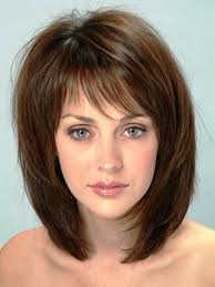 medium length straight hairstyles for round faces medium length hairstyle for thick hair round face hairstyles and